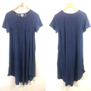 Lularoe Carly Blue High-Low Dress